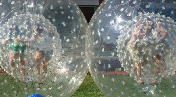 On a roll: fancy zorbing down hill?