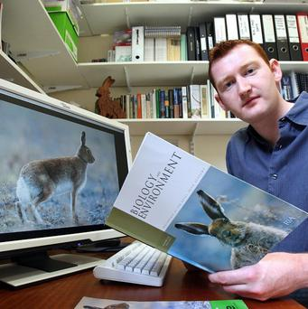 Dr Neil Reid, who led a research team at Queen's University in a study of hare population