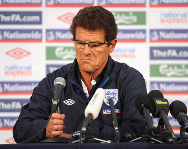 England manager Fabio Capello speaks to the media during the England Press Conference at the Royal Bafokeng Sports Campus on June 28, 2010 in Rustenburg, South Africa