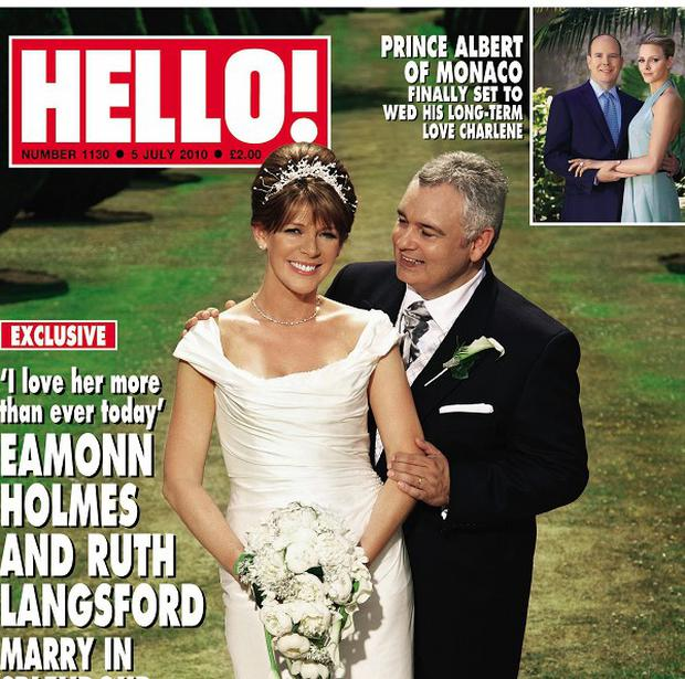 Eamonn Holmes and Ruth Langsford on their wedding day at the Elvetham Hotel, Hampshire