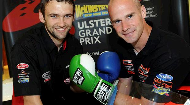 William Dunlop and Ryan Farquhar are ready to square up at Ulster Grand Prix