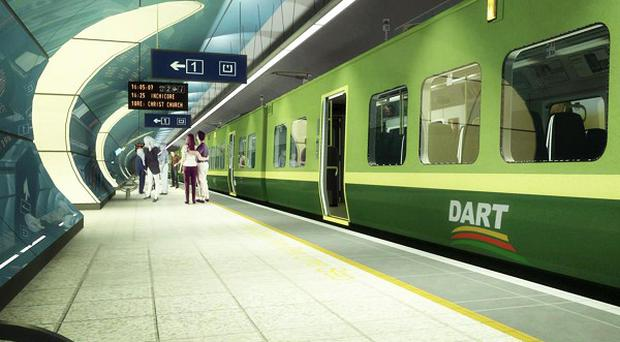 Artist's impression of the proposed Heuston Dart Underground station