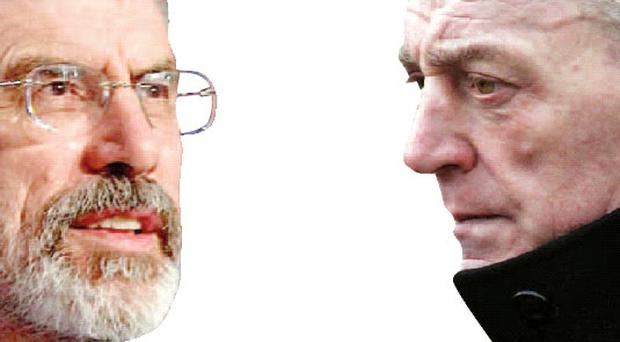 Face-to-face: Gerry Adams and Jackie McDonald