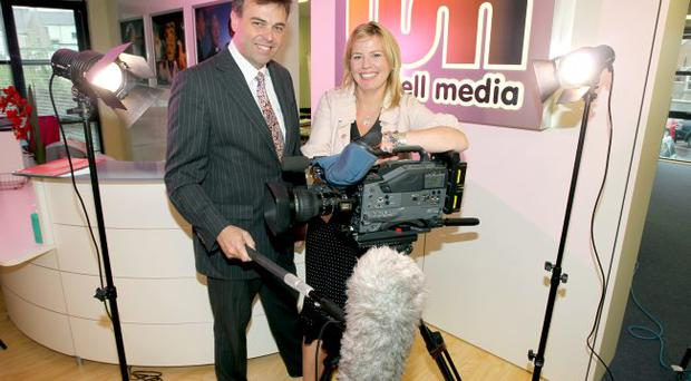 Waddell Media in Holywood, Co Down, is celebrating after securing a contract with Channel 4 to make 365 short films on the theme of religion and faith. The company has received funding from Invest NI. Alastair Hamilton, chief executive of Invest NI, congratulated Jannine Waddell, managing director of Waddell Media, on the company's success