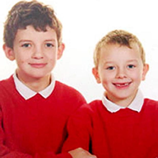 Felix, 10, and Oscar, 6, the two sons of Det Con Heather Bickley, 46, who all died in a house fire in Anglesey