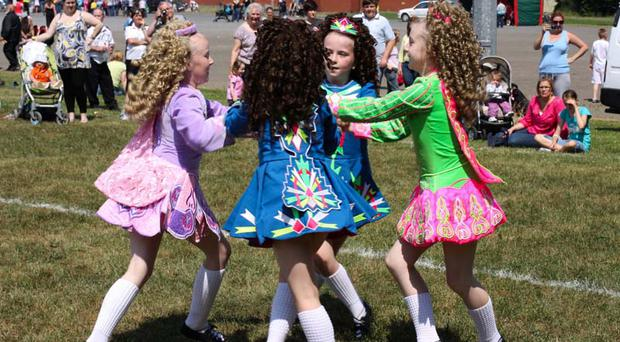 The Short Strand Irish dancers at the second annual Ravenlink Festival