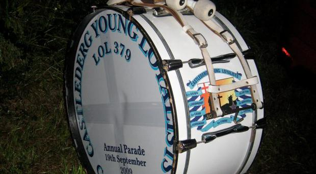 Drum of a Blood and Thunder loyalist band