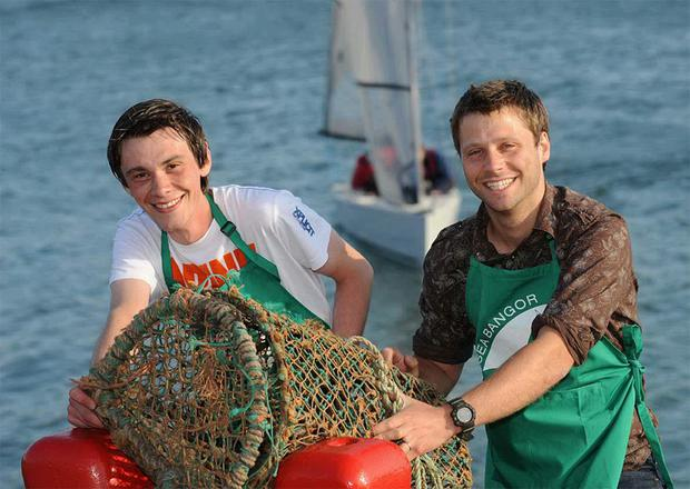Local traders William Farmer and Alan Stewart had their own catch of the day at the Sea Bangor festival
