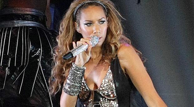 Leona Lewis performs in the Odyssey Arena Belfast last night