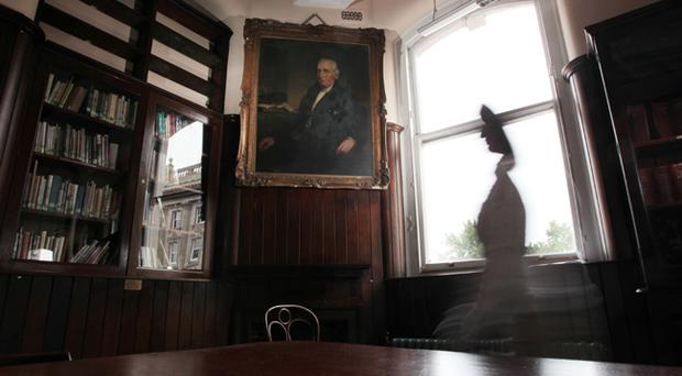 The portrait of Rev William Bruce in the Linen Hall Library
