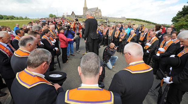 The annual Orange Order parade at Drumcree passed off peacefully
