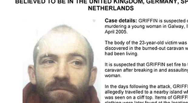 An Interpol wanted poster for Irishman John Griffin, 43, known as Fozzy
