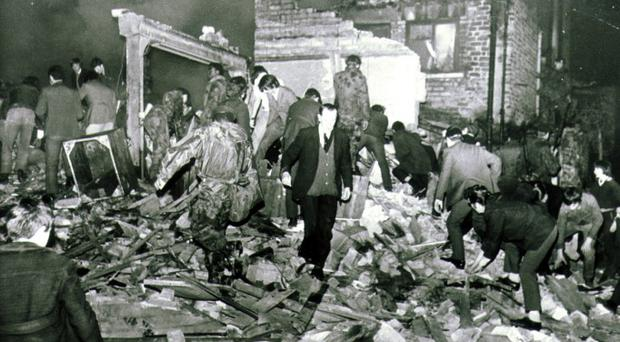 The devastating scene after the explosion at McGurk's Bar