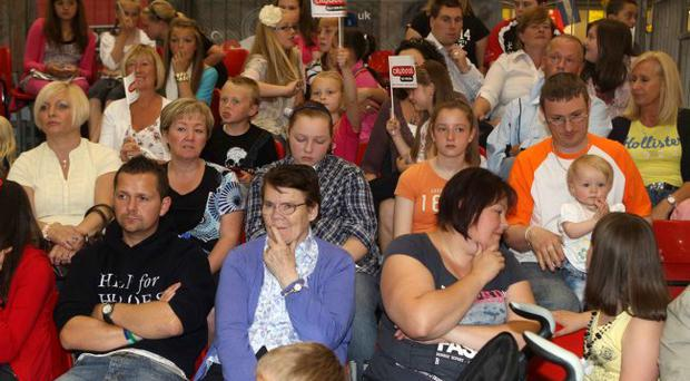 A big crowd watches on at the Citybeat Young Star Search in Newtownards