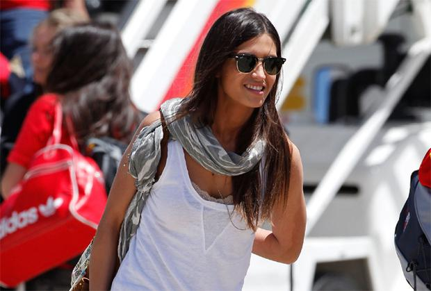 Sara Carbonero, girlfriend of Spanish team captain Iker Casillas arrival at Barajas Airport on July 12, 2010 in Madrid, Spain. Carbonero was travelling with the Spanish team as a journalist
