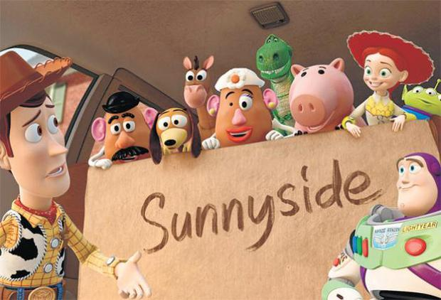 Riding into the sunset: Woody, Buzz and the other toys retire to a day-care centre in Toy Story 3