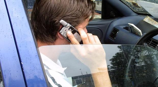 About 40 per cent of adults admitted using a mobile phone when driving