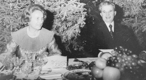 Nicolae Ceausescu and his wife Elena during their 1981 winter holidays at one of their residences in Bucharest. Romania