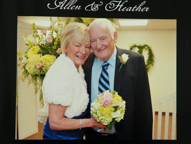 Special day: though ill, Sir Allen smiled through their wedding