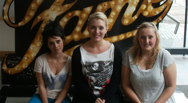Naomi Liberante, Kathryn Rutherford and Naomi Wilkinson are in the Rainbow Factory production of Fame