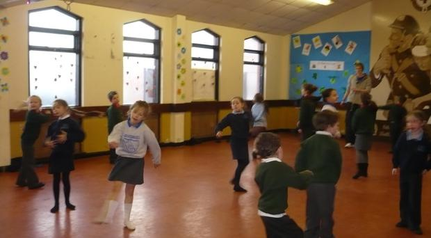 Kids at a recent event at the Playzone facility in the Ballymac Centre, which could be closed if funding is not secured