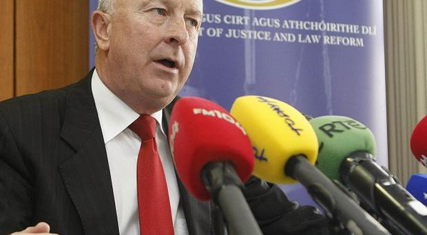 Justice Minister Dermot Ahern holds a press conference on the future of the new Thornton Hall Prison