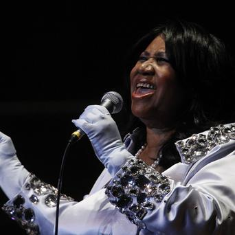 Aretha Franklin performs at a charity concert in Philadelphia
