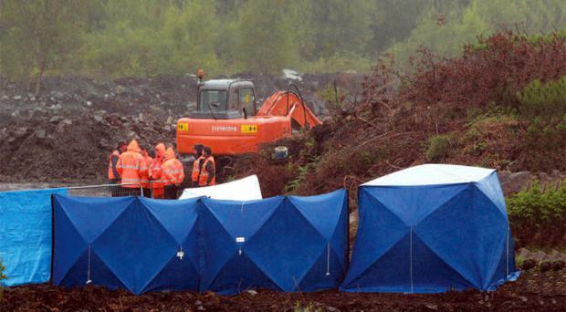 The scene of the dig at Corrinshigagh in Co Monaghan