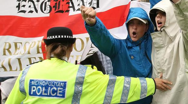 Several arrests were made at an English nationalist protest