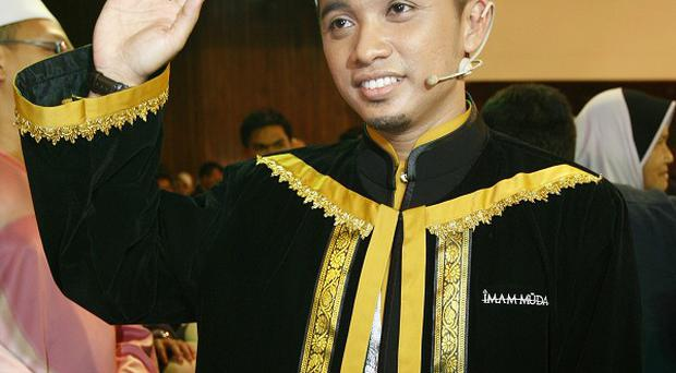 Muhammad Asyraf Ridzuan, the winner of the reality TV show Imam Muda