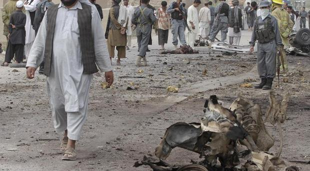 Six children were killed in a suicide bombing in Afghanistan (AP)