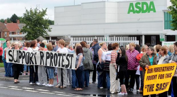 The protest over Billy Hunter's dismissal from Asda