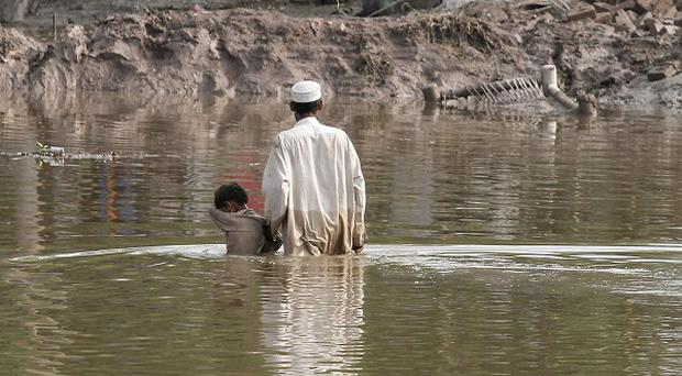 An Irish aid agency has launched a worldwide appeal to raise 5 million euro to help the victims of the Pakistan flood disaster. (AP)