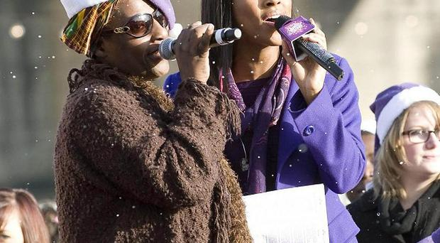 Alexandra Burke singing with her mother Melissa Bell. The X Factor winner offered to give up one of her kidneys to her ill mother