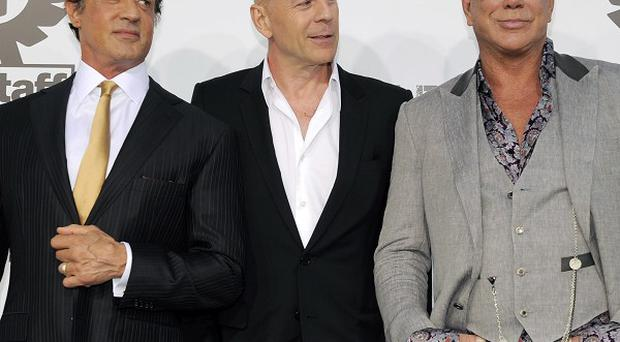 Sylvester Stallone, Bruce Willis and Mickey Rourke stepped out for The Expendables premiere