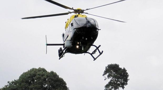 Police Service of Northern Ireland's new helicopter goes through its paces