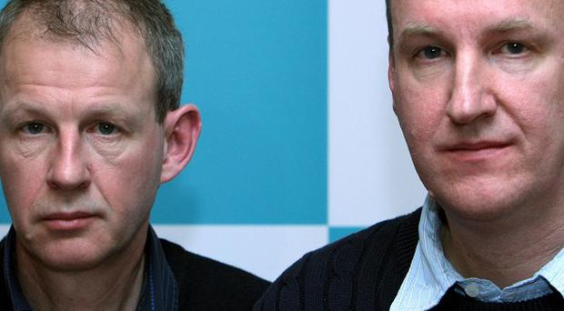Stuart, left, and Rory Gray have accused a German doctor who killed their father of trying to stop them from talking