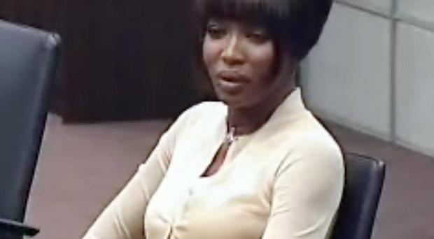 Naomi Campbell said she had passed on the diamonds to charity