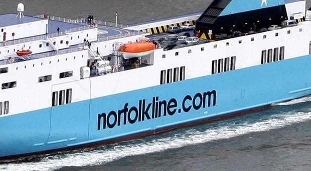 The Scottish Viking ferry was in collision with a fishing boat off the coast of Berwickshire