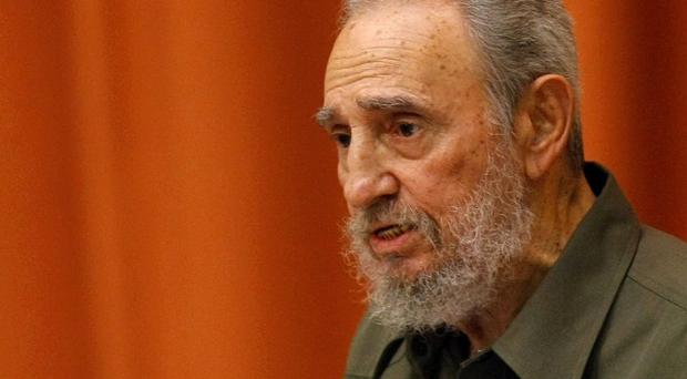 Fidel Castro speaks at a special session of parliament (AP)