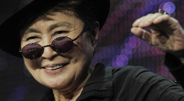 Yoko Ono discusses the new television special Lennon NYC during an interview (AP)