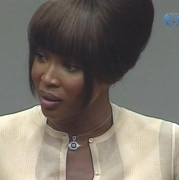 Naomi Campbell gave evidence at the Special Court for Sierra Leone in the Netherlands