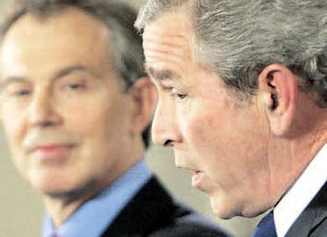 Naive: George Bush's staff were aghast at Tony Blair's two-tier policing idea
