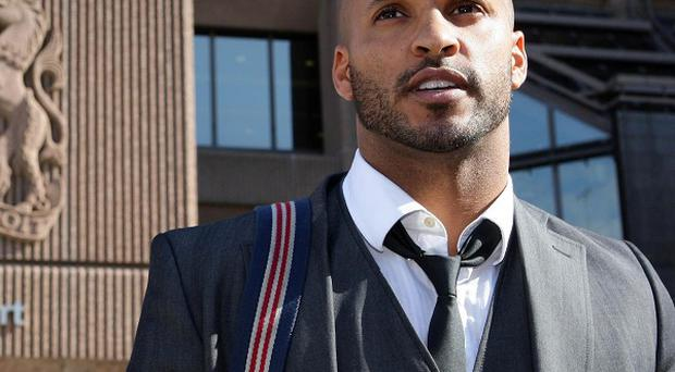 Strictly Come Dancing star Ricky Whittle outside court after he was cleared of deliberately knocking down a photographer