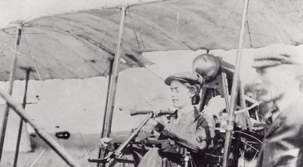 Lift off: Lilian Bland in her plane