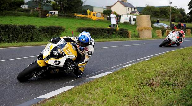 Keith Amor celebrated his first ever win at Dundrod yesterday
