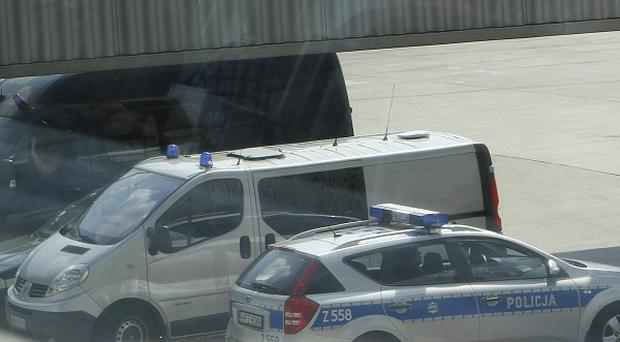 A white van that is thought to have transported suspected Israeli spy Uri Brodsky (AP)