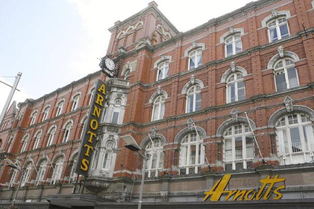 Dublin's famous Arnott's department store was taken over by Anglo Irish Bank and Ulster Bank