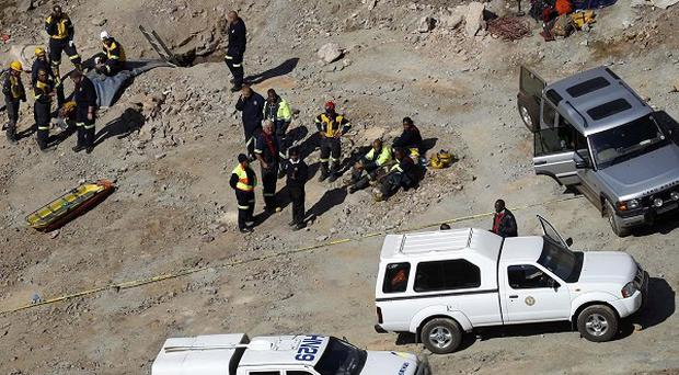 The search at the South African gold mine has now ended (AP Photo/Jerome Delay)