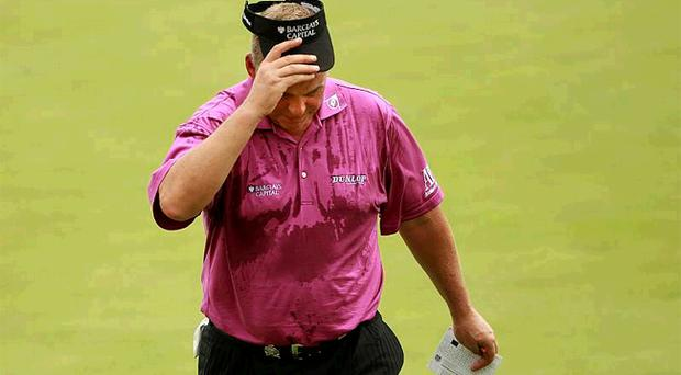 Darren Clarke after a difficult second round at the USPGA Championship